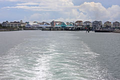 Hatteras Harbour. Hatteras town in the Outer Banks Royalty Free Stock Photo