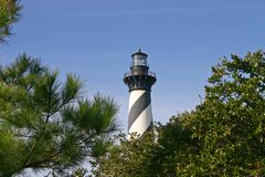 Hatteras Lighthouse Over the Trees Royalty Free Stock Images