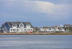 Hatteras, North Carolina. Hatteras town and marina from the sea Stock Photo