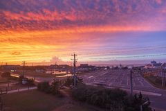 Hatteras Ocracoke Ferry Terminal North Carolina stock images