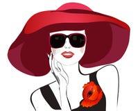 hattkvinna vektor illustrationer