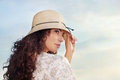 hattkvinna Arkivbilder