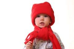 hattunge little som är röd Royaltyfria Bilder