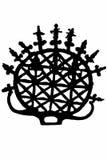 Hattushash symbol silhouette Stock Photography