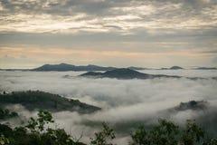 Hatyai city in the fog Stock Photo