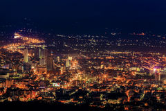 Hatyai city. City of hatyai at night lighting royalty free stock image