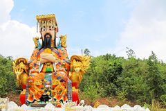 Emperor Statue At Guan Yin Temple, Hatyai Municipal Park, Hatyai, Thailand. Hatyai Municipal Park is a local park located in the southern city of Hatyai in Stock Photos
