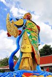 Guan Yu Statue At Guan Yin Temple, Hatyai Municipal Park, Hatyai, Thailand. Hatyai Municipal Park is a local park located in the southern city of Hatyai in Royalty Free Stock Image