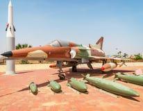 HATZERIM, ISRAEL - APRIL 27, 2015: Israel Air Force Kfir C7 figh Stock Image