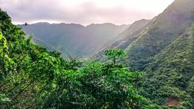 Hauula Ridge. Mountain Landscape Hawaii Royalty Free Stock Photos