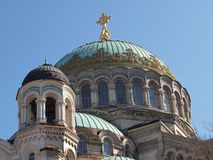 Haube über der Kathedrale Johannes Kronstadt Lizenzfreies Stockbild