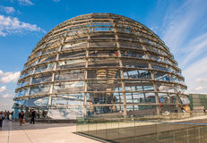 Haube Berlin-Reichstag Stockfotografie