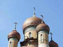 Haube der orthodoxen Kirche Lizenzfreie Stockfotos