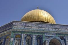 Haube des Felsen-Tempels, Jerusalem. lizenzfreies stockbild