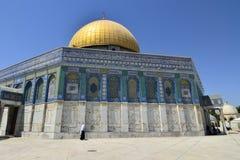 Haube des Felsen-Tempels, Jerusalem. lizenzfreie stockfotos