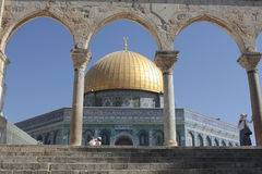 Haube des Felsens im Tempelberg in Jerusalem Lizenzfreies Stockfoto