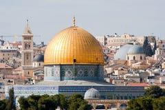 Haube des Felsens - Jerusalem Stockbild