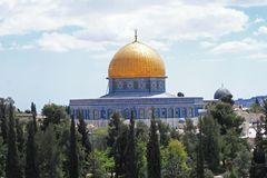 Haube des Felsens in Jerusalem Stockfotos