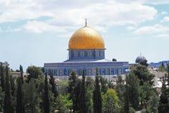 Haube des Felsens in Jerusalem Stockfotos