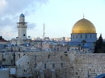 Haube des Felsens Jerusalem stockfoto