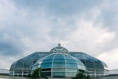 Haube des Phipps-Konservatoriums und der botanischen Gärten in Pittsburgh, USA stockfotografie