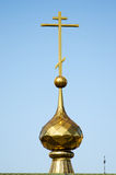 Haube eines orthodoxen Tempels Stockbild