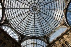Haube innerhalb der Galerie Principe Umberto I. Stockfotografie