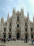 Haube in Mailand (Milan Cathedral) mit Quadrat Lizenzfreie Stockfotos