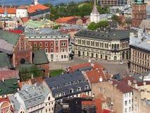 Haube-Quadrat in Riga Lizenzfreies Stockbild