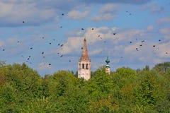 Haube von Nicholas The Wonderworker u. von x27; s-Kirche in Suzdal, Russland Lizenzfreie Stockfotos