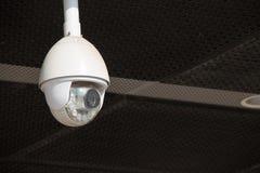 Hauben-Überwachungskamera im Freien Stockfoto