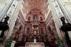 Hauben der Moschee-Kathedrale in Cordoba Spanien Andalusien lizenzfreie stockbilder