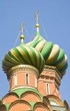Hauben des St. Basil Cathedral in Moskau Lizenzfreie Stockfotografie