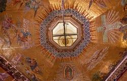 Hauben-Mosaik-alte Basilika Guadalupe Mexiko City Mexiko Lizenzfreie Stockfotografie