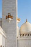 Hauben Sheikh Zayed Grand Mosques bei Sonnenuntergang Lizenzfreie Stockfotografie