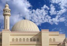 Hauben und Minarett der Al Fateh Moschee, die Nanowatt schaut Lizenzfreie Stockbilder