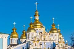 Hauben von St Michael Golden-gewölbtem Kloster lizenzfreies stockfoto