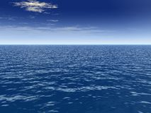 Hauch-Wolke über Meer Stockbilder