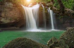 Hauen Sie suwat Wasserfall in Nationalpark Thailand khao Yai lizenzfreie stockfotos