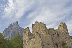 Hauenstein ruins in South Tyrol Royalty Free Stock Photography