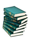 Haufen der Bücher der grünen Farbe Stockbild