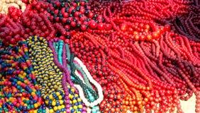 Haufen der bunten Perlen Stockbilder