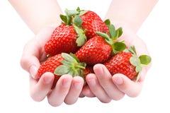 Haufen der Erdbeeren Stockfotos