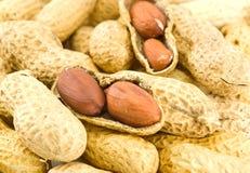 Haufen der Erdnüsse lizenzfreie stockbilder