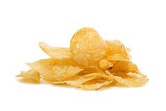 Haufen der Kartoffelchips Lizenzfreies Stockfoto