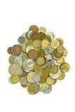 Haufen der Münzen Stockbild