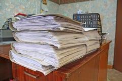 Haufen der Papiere Lizenzfreie Stockfotos