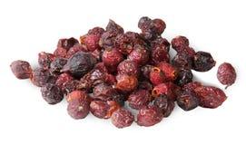 Haufen der trockenen Hagebutten-Frucht stockfoto