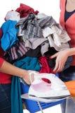 Haufen der Wäscherei stockfotos