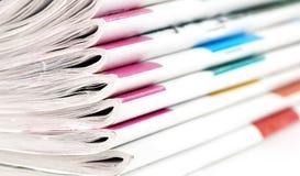 Haufen der Zeitschriften Lizenzfreie Stockbilder